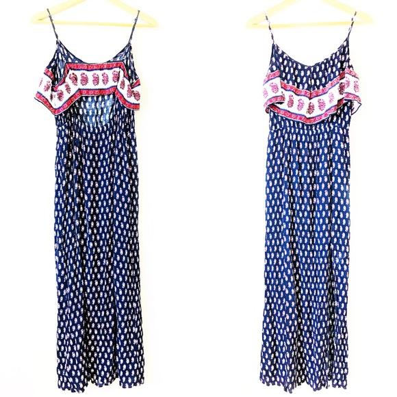 2c51e0a58681 American Eagle Outfitters Dresses & Skirts - American Eagle Ruffle Paisley  Boho Print Maxi L B